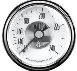 "Autometer Gauge, Water Temp, 2 1/16"", 240şF, Mech, Prestige Pearl 2031"