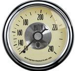 "Autometer Gauge, Water Temp, 2 1/16"", 240şF, Mech, Prestige Antq. Ivory 2032"
