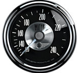 "Autometer Gauge, Water Temp, 2 1/16"", 240şF, Mech, Prestige Blk. Diamond 2033"
