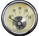 "Autometer Gauge, Water Temp, 2 1/16"", 250şF, Elec, Prestige Antq. Ivory 2037"