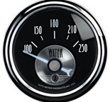 "Autometer Gauge, Water Temp, 2 1/16"", 250şF, Elec, Prestige Blk. Diamond 2038"
