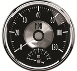 "Autometer Gauge, Tach/Speedo, 5"", 120mph & 8k RPM, Elec. Program, Prestige Blk. Diamond 2091"