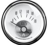 """Autometer Gauge, Voltmeter, 2 1/16"""", 18V, Elec, Prestige Pearl 2094"""