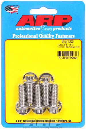 ARP 3/8-16 x 1.000 12pt SS bolts 6131000