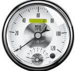 "Autometer Gauge, Tach/Speedo, 5"", 120mph & 8k RPM, Elec. Program., Prestige Pearl 2095"