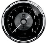 "Autometer Gauge, Tachometer, 3 3/8"", 8k RPM, In-Dash, Prestige Blk. Diamond 2096"
