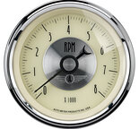 """Autometer Gauge, Tachometer, 3 3/8"""", 8k RPM, In-Dash, Prestige Antq. Ivory 2097"""