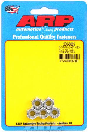 ARP 5/16-18 cad coarse nyloc hex nut kit 2008662