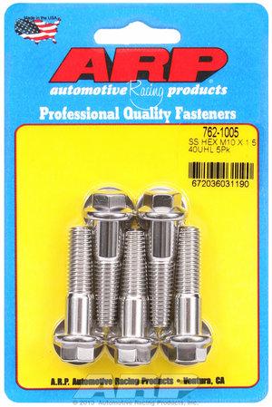 ARP M10 x 1.50 x 40 hex SS bolts 7621005