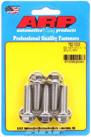 ARP M10 x 1.50 x 30 hex SS bolts 7621003