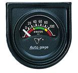 """Autometer Gauge Console, Oil Press, 1.5"""", 100psi, Elec, Blk Dial, Blk Bezel, AutoGage 2354"""