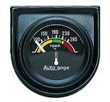 """Autometer Gauge Console, Water Temp, 1.5"""", 280şF, Elec, Blk Dial, Blk Bezel, AutoGage 2355"""