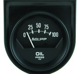 "Autometer Gauge Console, Oil Press, 2"", 100psi, Mech, Short Sweep, Black, AutoGage 2360"