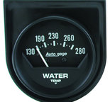 "Autometer Gauge Console, Water Temp, 2"", 280şF, Mech, Short Sweep, Black, AutoGage 2361"