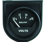 "Autometer Gauge Console, Voltmeter, 2"", 16V, Short Sweep, Black, AutoGage 2362"