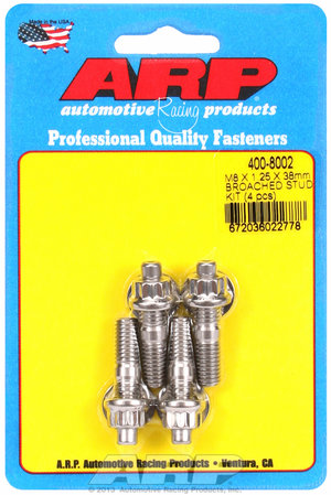 ARP M8 X 1.25 X 38mm broached stud kit - 4pcs 4008002