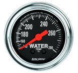 """Autometer Gauge, Water Temp, 2 1/16"""", 140-280şF, Mechanical, Traditional Chrome 2431"""