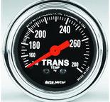 "Autometer Gauge, Trans Temp, 2 1/16"", 140-280şF, Mechanical, 8ft., Traditional Chrome 2451"