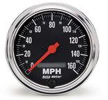 """Autometer Gauge, Speedo, 3 3/8"""", 160mph, Elec. Program w/ LCD odo, Traditional Chrome 2489"""