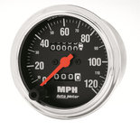 """Autometer Gauge, Speedometer, 3 3/8"""", 120mph, Mechanical, Traditional Chrome 2492"""