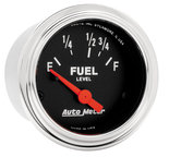 """Autometer Gauge, Fuel Level, 2 1/16"""", 73?E to 10?F, Elec, Traditional Chrome 2515"""