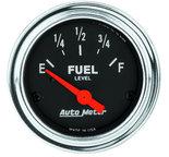 """Autometer Gauge, Fuel Level, 2 1/16"""", 0?E to 30?F, Elec, Traditional Chrome 2517"""