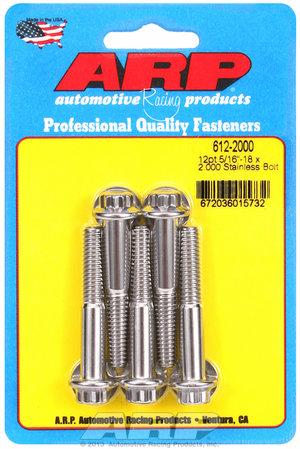 ARP 5/16-18 x 2.000 12pt SS bolts 6122000