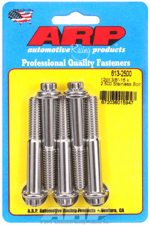 ARP 3/8-16 x 2.500 12pt SS bolts 6132500