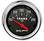 """Autometer Gauge, Trans Temp, 2 1/16"""", 100-250şF, Electric, Traditional Chrome 2552"""