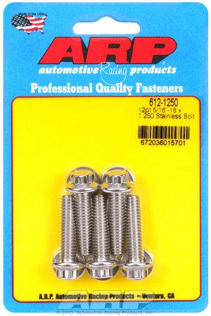 ARP 5/16-18 x 1.250 12pt SS bolts 6121250