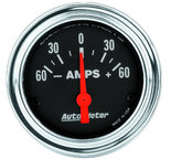 """Autometer Gauge, Ammeter, 2 1/16"""", 60A, Electric, Traditional Chrome 2586"""