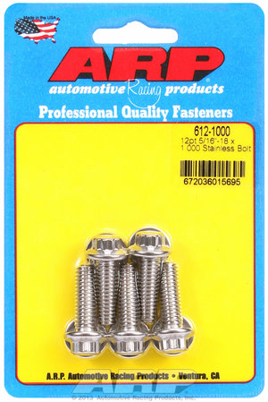 ARP 5/16-18 x 1.000 12pt SS bolts 6121000