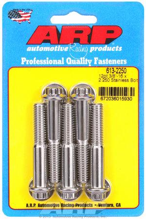 ARP 3/8-16 x 2.250 12pt SS bolts 6132250