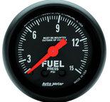 "Autometer Gauge, Fuel Press, 2 1/16"", 15psi, Mechanical, Z Series 2603"