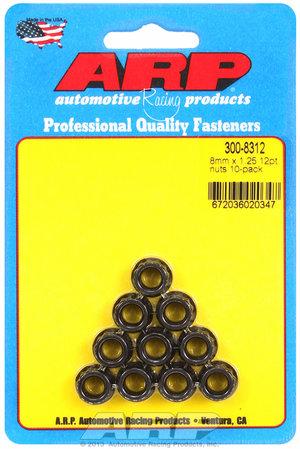 ARP M8 x 1.25 12pt nut kit 3008312