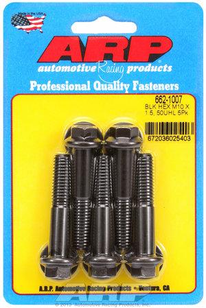 ARP M10 x 1.50 x 50 hex black oxide bolts 6621007