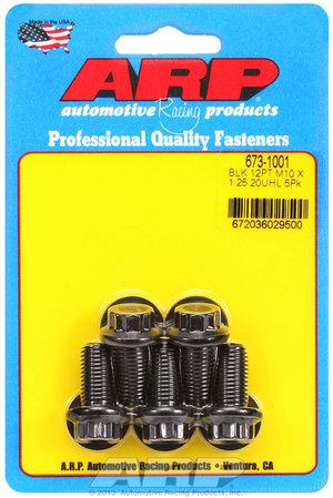 ARP M10 x 1.25 x 20 12pt black oxide bolts 6731001