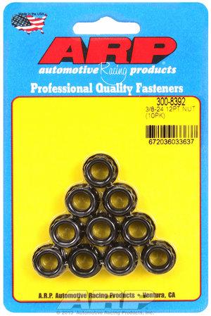 ARP 3/8-24, 1/2 socket, .645 flange OD, 12pt nut kit 3008392