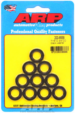 ARP 7/16 ID 3/4 OD black washers 2008558