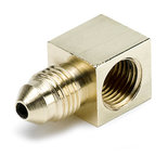 "Autometer Fitting, Adapter, 90ş, 1/8"" NPTF Female to -3AN Male, Brass 3270"
