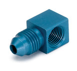 "Autometer Fitting, Adapter, 90ş, 1/8"" NPTF Female to -4AN Male, Aluminum, Blue Anodized 3278"