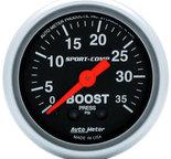 "Autometer Gauge, Boost, 2 1/16"", 35psi, Mechanical, Sport-Comp 3304"