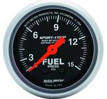 "Autometer Gauge, Fuel Pressure, 2 1/16"", 15psi, Mechanical, Sport-Comp 3311"