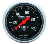 "Autometer Gauge, Fuel Pressure, 2 1/16"", 100psi, Mechanical, Sport-Comp 3312"