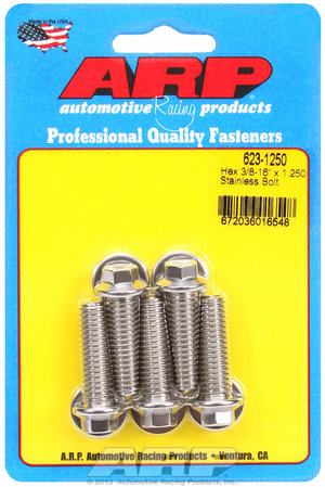 ARP 3/8-16 x 1.250 hex SS bolts 6231250