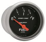 "Autometer Gauge, Fuel Level, 2 1/16"", 0?E to 90?F, Elec, Sport-Comp 3314"
