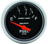 "Autometer Gauge, Fuel Level, 2 1/16"", 73?E to 10?F, Elec, Sport-Comp 3315"