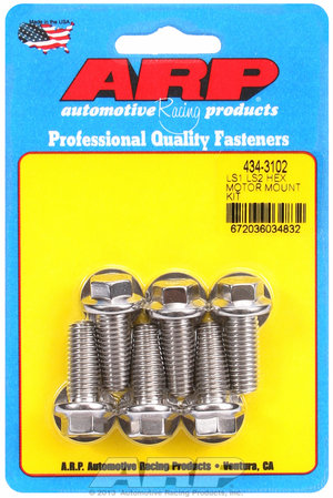 ARP LS1 LS2 SS hex motor mount bolt kit 4343102