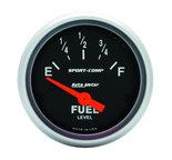 "Autometer Gauge, Fuel Level, 2 1/16"", 240?E to 33?F, Elec, Sport-Comp  3316"