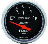 "Autometer Gauge, Fuel Level, 2 1/16"", 0?E to 30?F, Elec, Sport-Comp 3317"
